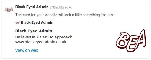 Black Eyed Admin Twitter Summary Card