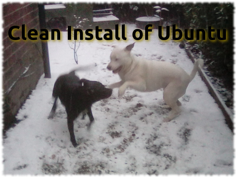 Clean install of Ubuntu